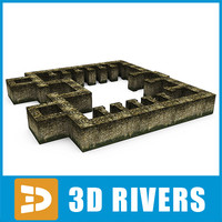 building ruin old 3d 3ds