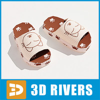 3dsmax house slippers