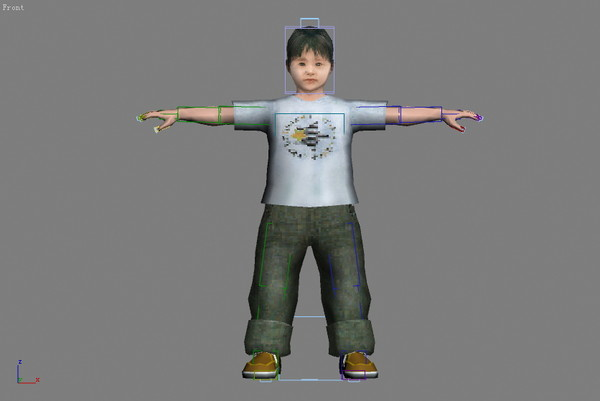 asia china man children 3d max