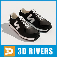 jogging shoes sneakers 3d max