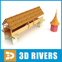 Medieval wooden bridge by 3DRivers