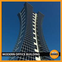 3d max modern office building 06