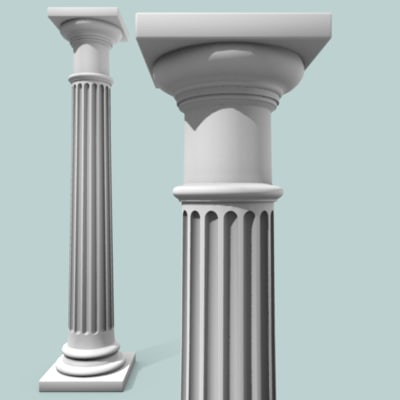 Greek doric tuscan roman ionic corinthian pictures for Doric columns