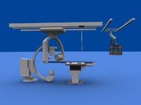 angio device hospital 3d model