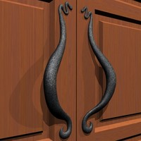 3d wrought iron door handle model