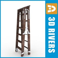 3d ladder stairs model
