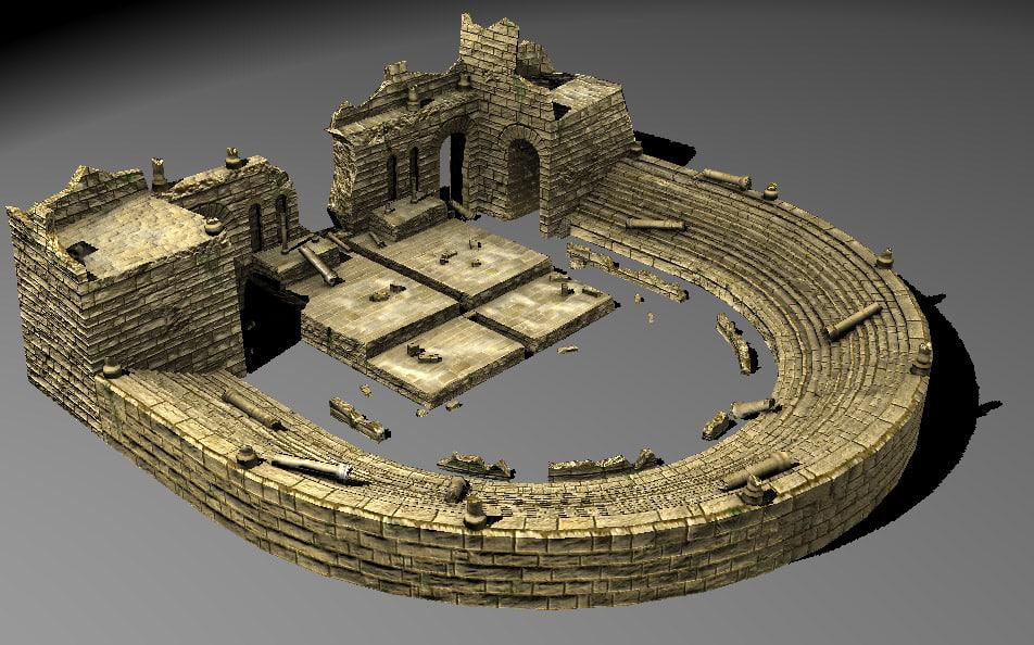 Ancient theatre 3d model for Theatre model