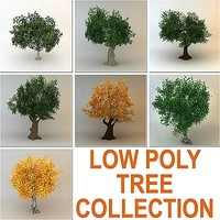 trees collection (7 low poly trees)