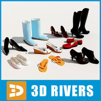 3d model woman shoes
