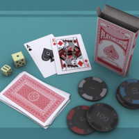 Full Card Deck and Gambling Set