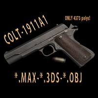 3d max pistols 3d-model 1911a1