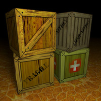 4 Free Crate Box Models