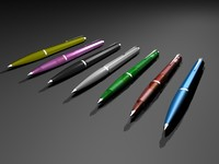 free 3ds model ballograf pencil pen