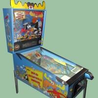 arcade pinball machine bullwinkle 3d max