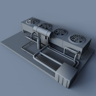 cooling unit 3d 3ds - CoolingUnits_1_3DS.zip... by MDK Graphics