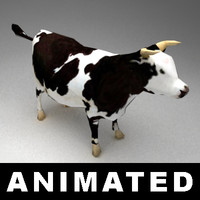 cow animation 3d model