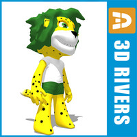 Football 2010 mascot by 3DRivers