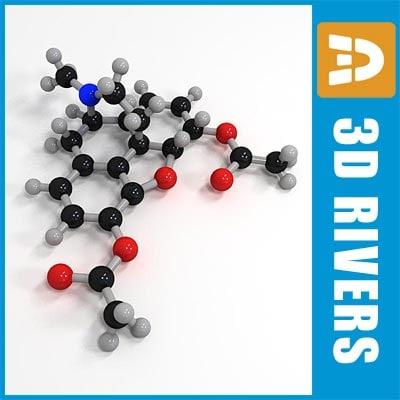 heroin molecule structure 3d max