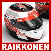 3ds max kimi raikkonen f1 helmet