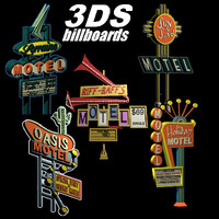 Hotels and Motels Signs x 5 Roadside Hotel Advertisment logos