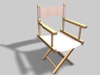 3d directors chair