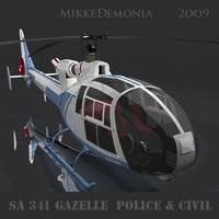 SA 342 Gazelle Police&Civil