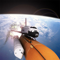 space shuttle delivery spacecraft 3d model