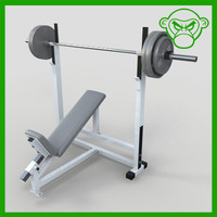 incline bench weight 3d model