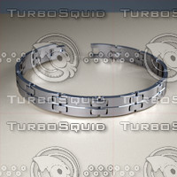 stainless steel bracelet 3d 3ds