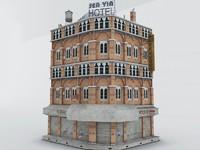 old hotel 3d model