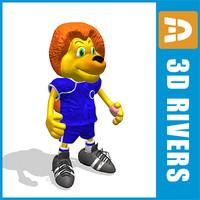3d model stamford chelsea mascot