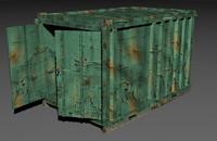 container 3d obj