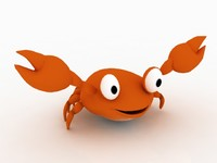 Cartoon Crab - Cartoonish Aquatic Creature 3d model