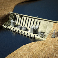3d dam station hydroelectric