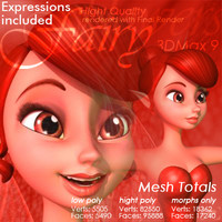 rose fairy expressions 3d model