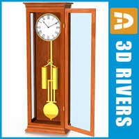 maya grandfather clock standing base