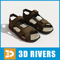 3d men sandals shoes model