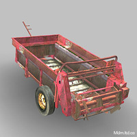 Farm Muck Spreader