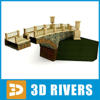 stone medieval bridge 3d 3ds