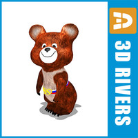 3ds max bear moscow olympic