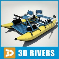 Inflatable fishing pontoon boat by 3DRivers