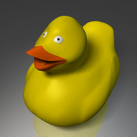 3d rubber duck model