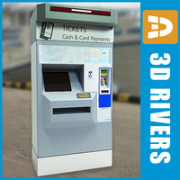 ticket vending machine 3d model