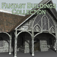 medieval fantasy buildings 3d model
