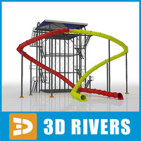 Water slides 02 by 3DRivers