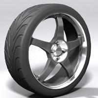 3d model aluminium wheel sports