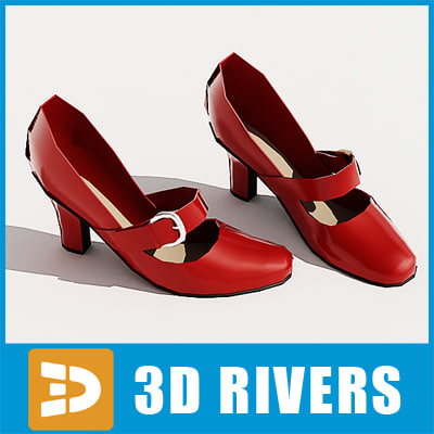 Red high heels by 3DRivers