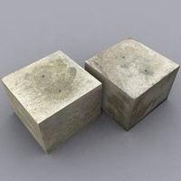 3d weathered concrete block model