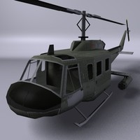 3d model of uh-1 huey