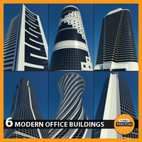 3d model of modern office buildings vol 1